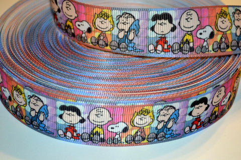 "Charlie Brown Peanuts Inspired 3 yards 1"" Gross Grain Ribbon for Hair Bows Crafts Scrapbook"