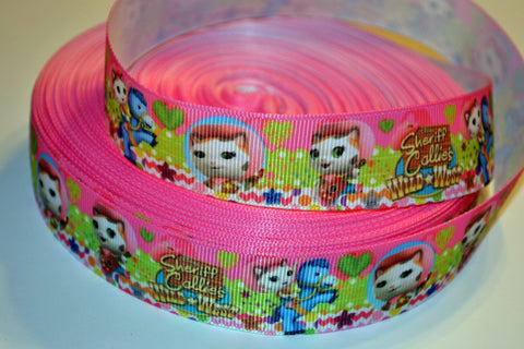 "Sheriff Callie Wild West Inspired 3 yards 1"" Gross Grain Ribbon for Hair Bows Crafts Scrapbook"