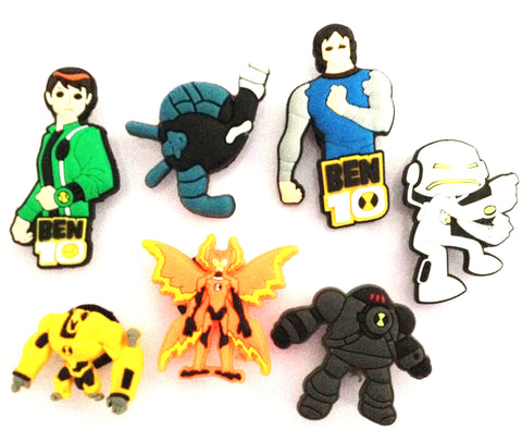 Ben 10 7pc Cartoon Character Shoe Charms