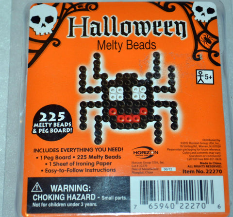 Halloween Melty Beads - Spooky Creepy Spider