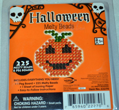 Halloween Melty Beads - Smiling Pumpkin