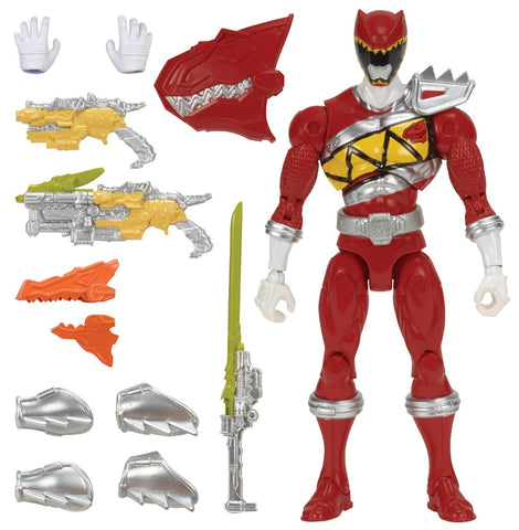 "Ban Dai Saban's Power Rangers Dino Charge Armored Dino 7"" Red Ranger Action Figure"