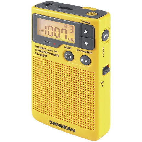 Sangean Digital Am And Fm Pocket Radio With Weather Alert