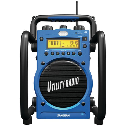 Sangean Digital Am And Fm Water-resistant Utility Radio With Alarm