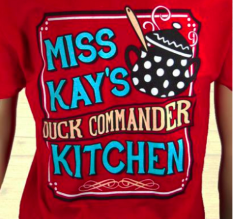 Duck Dynasty - Miss Kay's Kitchen Red Duck Commander T-Shirt