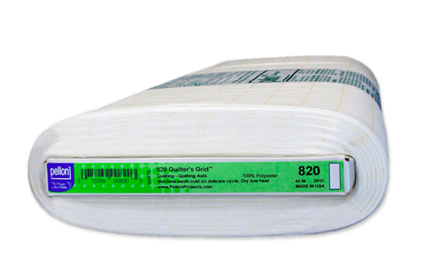 "Pellon 820 Quilter's Grid fusible non-woven interfacing 45"" Wide 1"" Square"