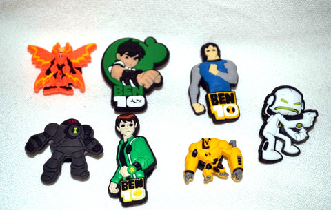 Ben 10 7pc Cartoon Character Shoe Charms 3 Ben Images
