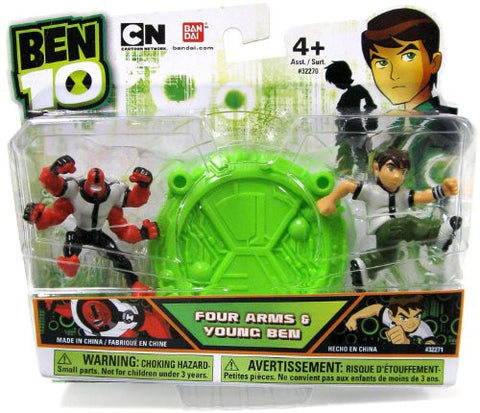 "Ben 10 Four Arms & Young Ben Mini 2.5"" Action Figure 2-Pack"