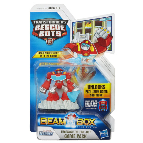 Playskool Heroes Transformers Rescue Bots Beam Box Heatwave the Fire-Bot Game Pack