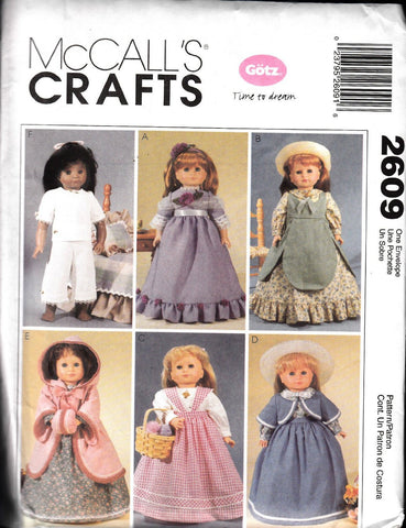 "McCall's 2609 Sewing Patterns Clothes For 18"" Doll, One Size Only"