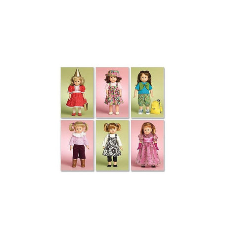 McCall's 5554 Sewing Patterns Doll Clothes For 18-Inch Doll, One Size Only