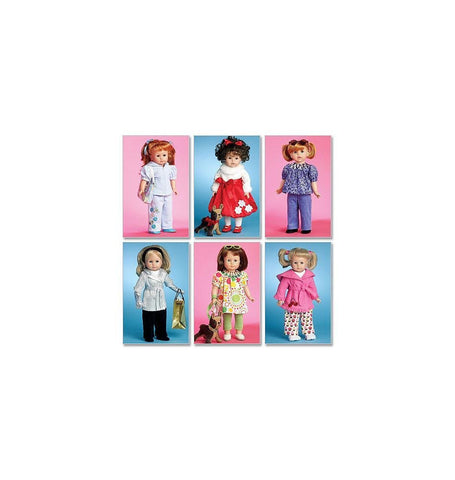 McCall's 5775 Sewing Patterns Doll Clothes For 18-Inch Doll and Toy Dog, One Size Only