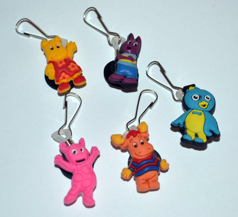 Backyardigans Zipper Pulls Back Pack Charms (Set of 5)
