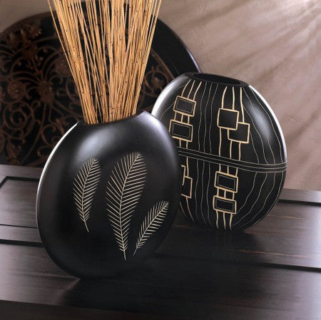Black Decorative Vase