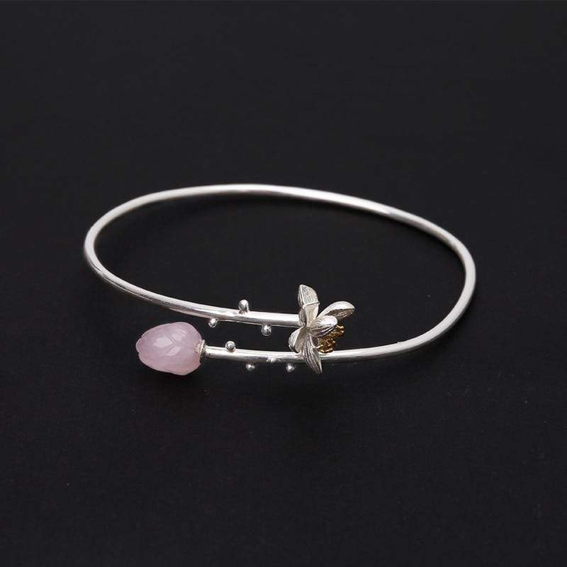 Transformative Transitions - Rose Quartz Bangle Bracelets & Bangles Pink