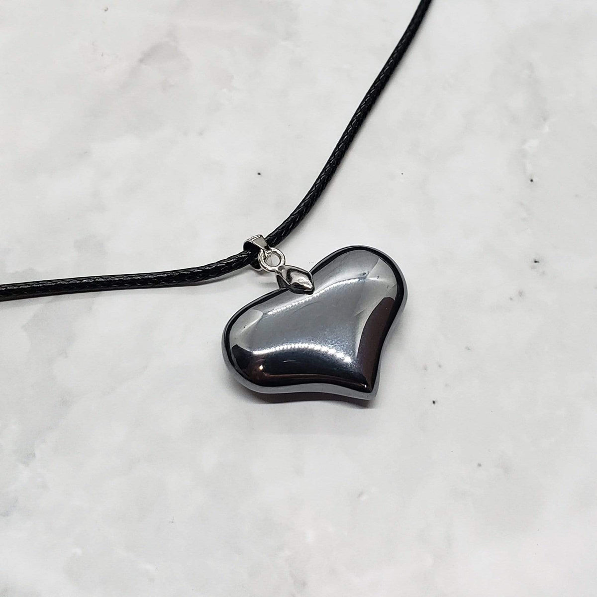 Heart of Protection - Hand-Carved Elite Shungite Heart Necklace Chain Necklaces