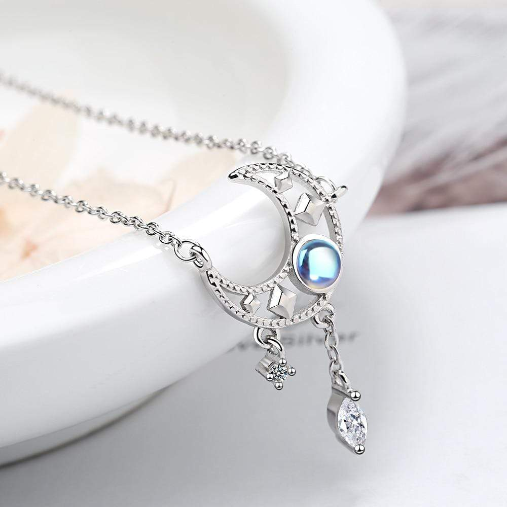 Spellbound Moon - Moonstone Necklace Chain Necklaces 40cm plus 3.5cm