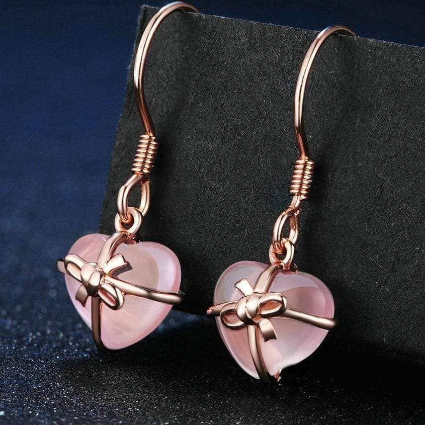 LAMOON Official Store Earrings Pink Drops of Love