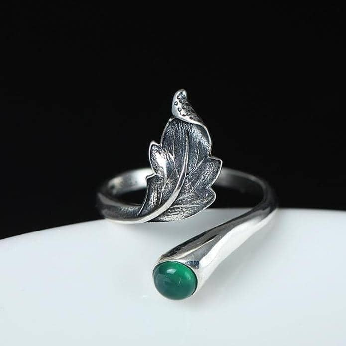 Flyleaf Official Store Rings Resizable / Green Flourishing Grandior