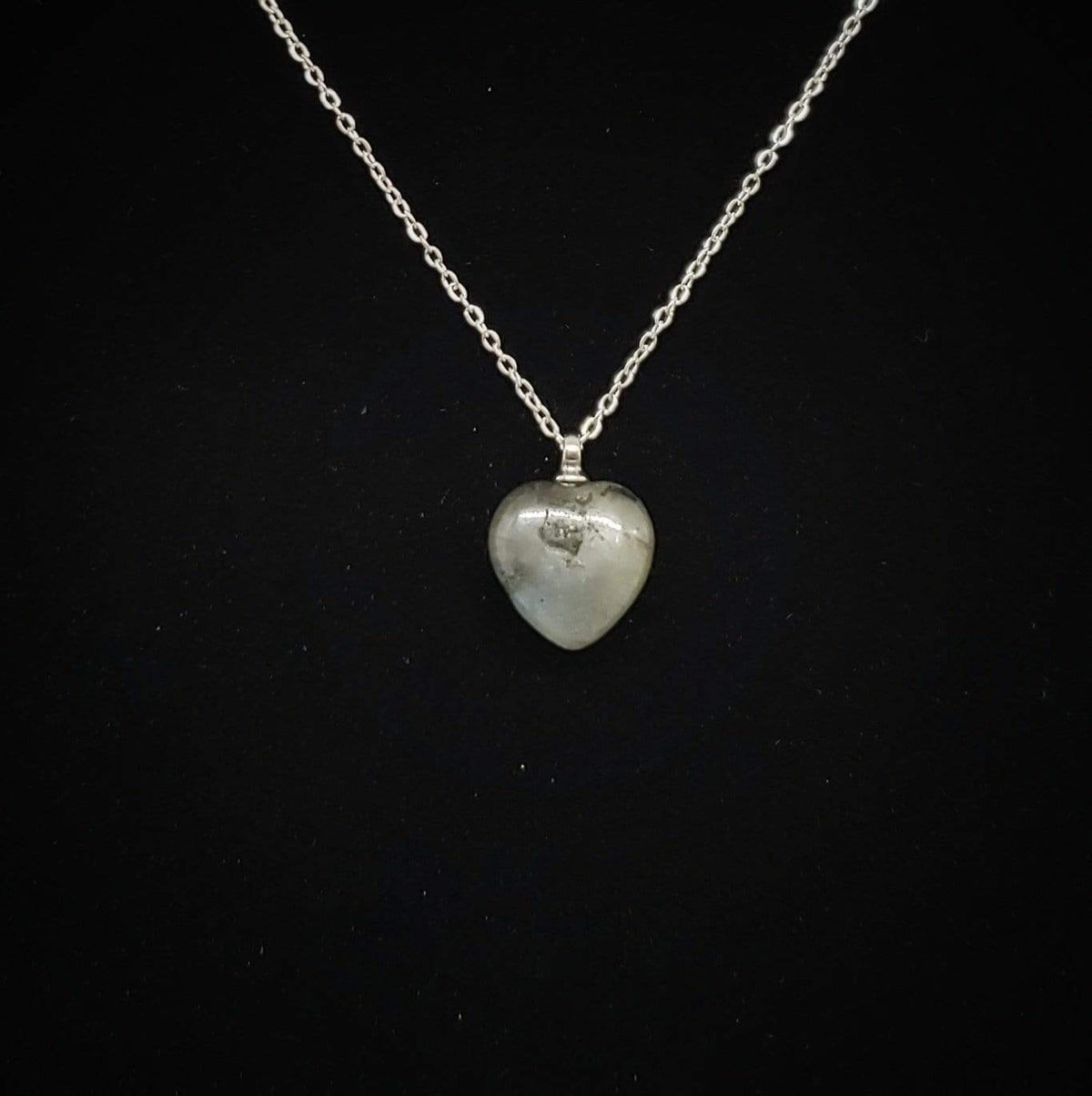 Transformative Healer - Hand-Carved Labradorite Heart Necklace Necklace