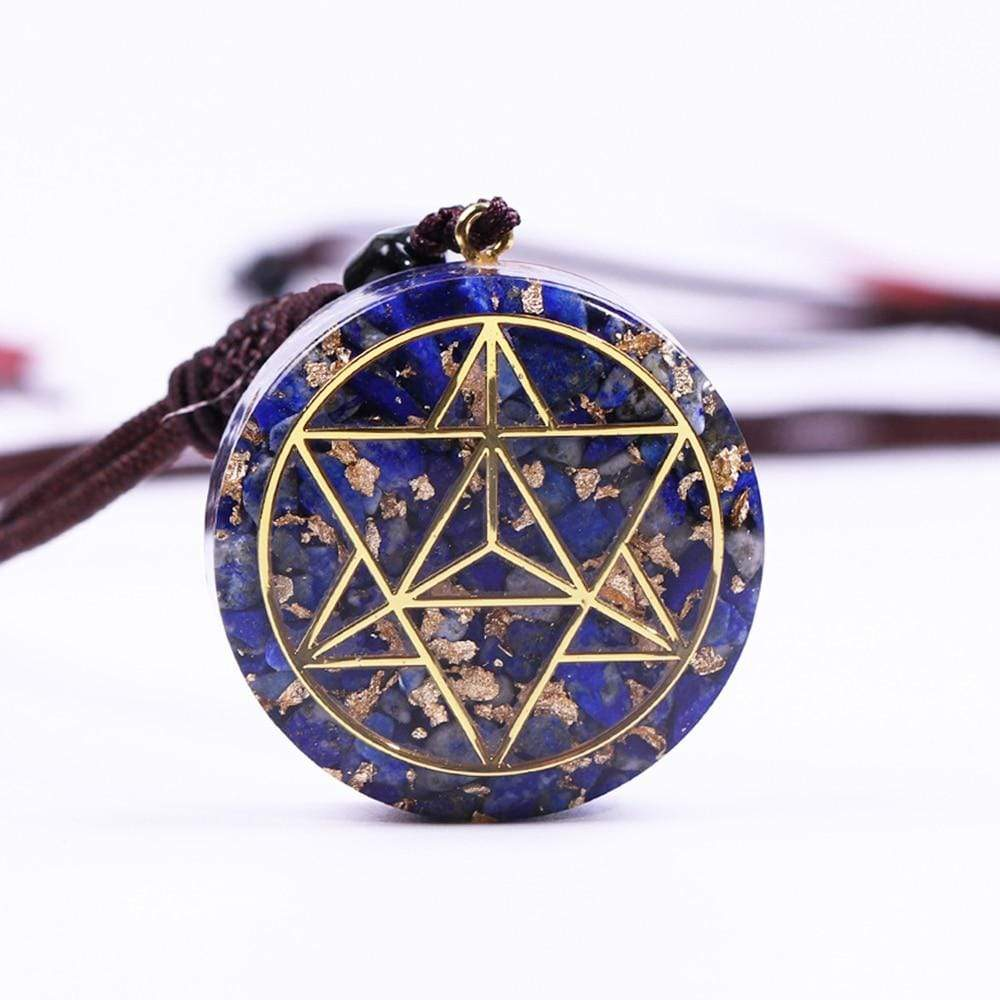 Lunar Dreams - Handcrafted Lapis Lazuli Orgonite Necklace Pendant Necklaces