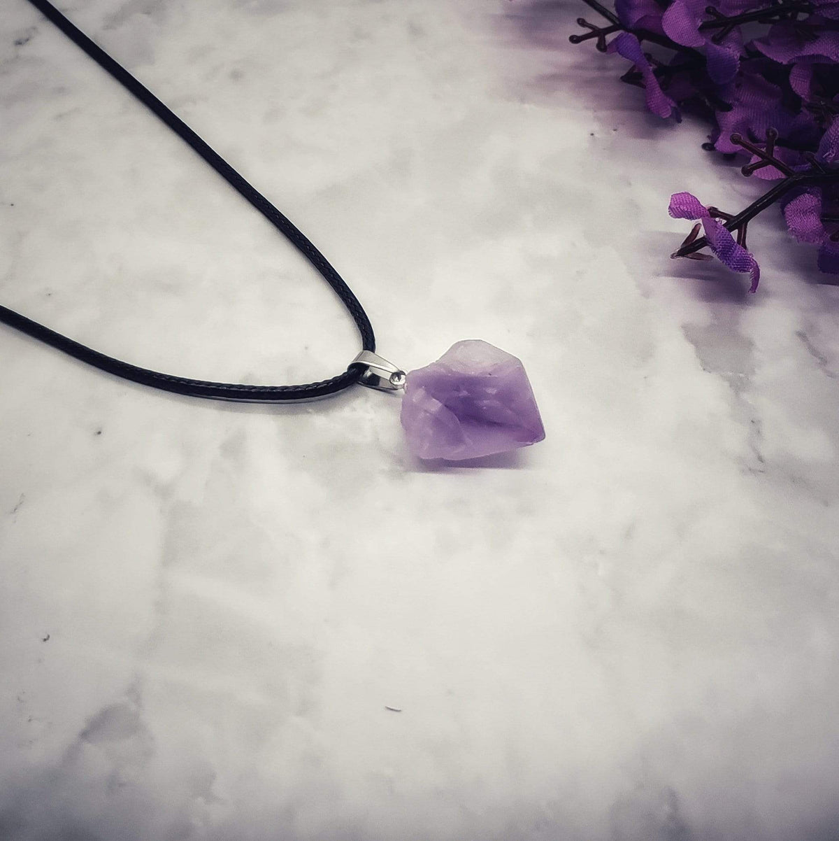 Inciter of Ideas - Natural Amethyst Necklace Pendant Necklaces