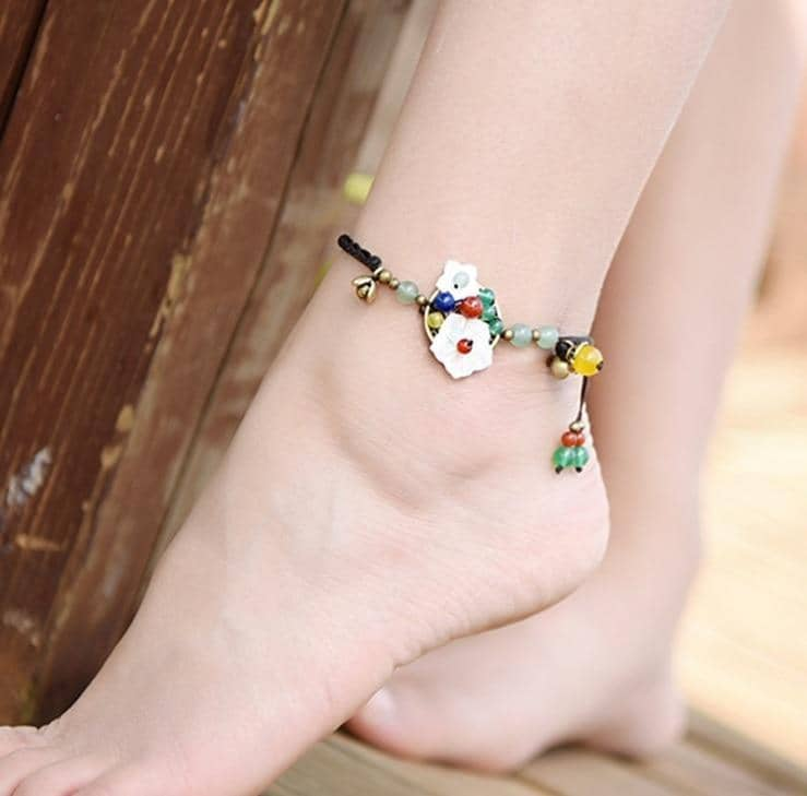 MYWINY-ETHNIC Store Anklets Protective Healing
