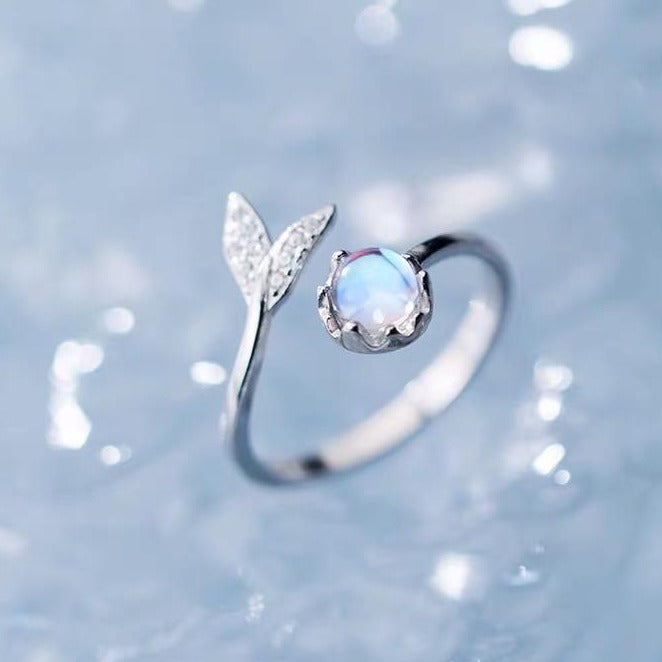 Underwater Calm - Moonstone Ring Rings