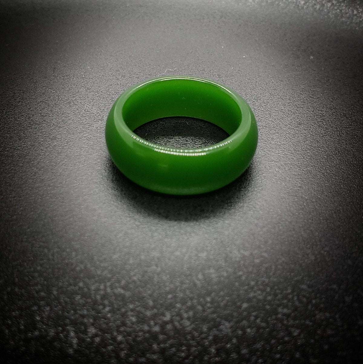 Harmonic Healer - Hand-carved Jade Ring Rings