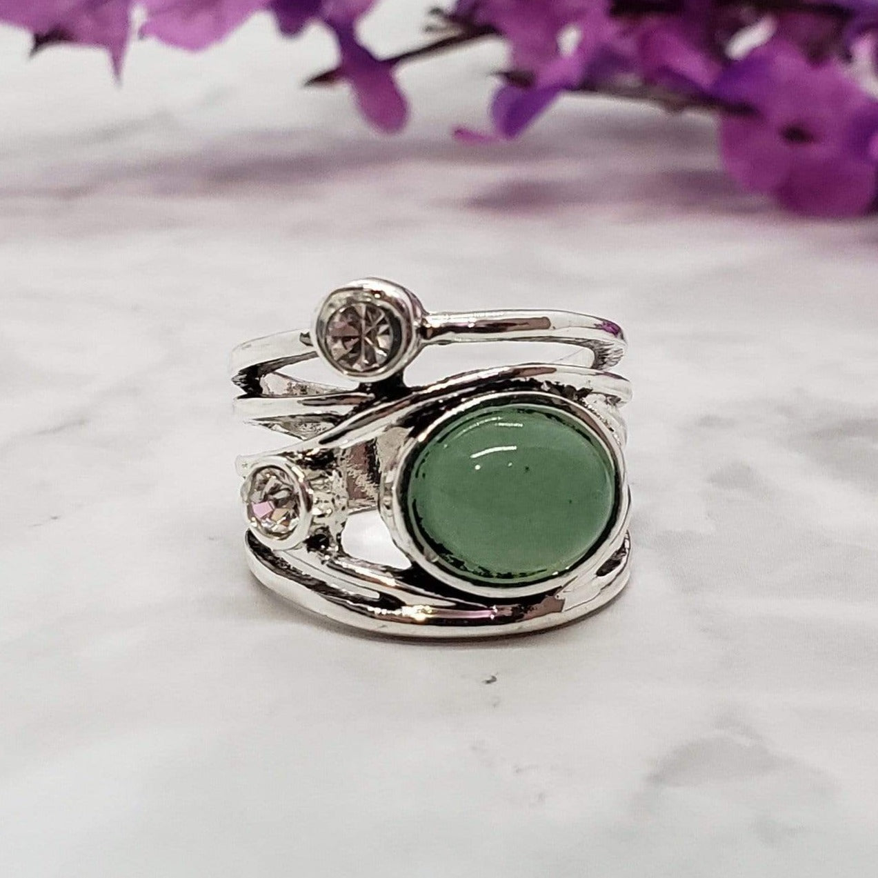 Prosperous Allure - Jade Ring Rings