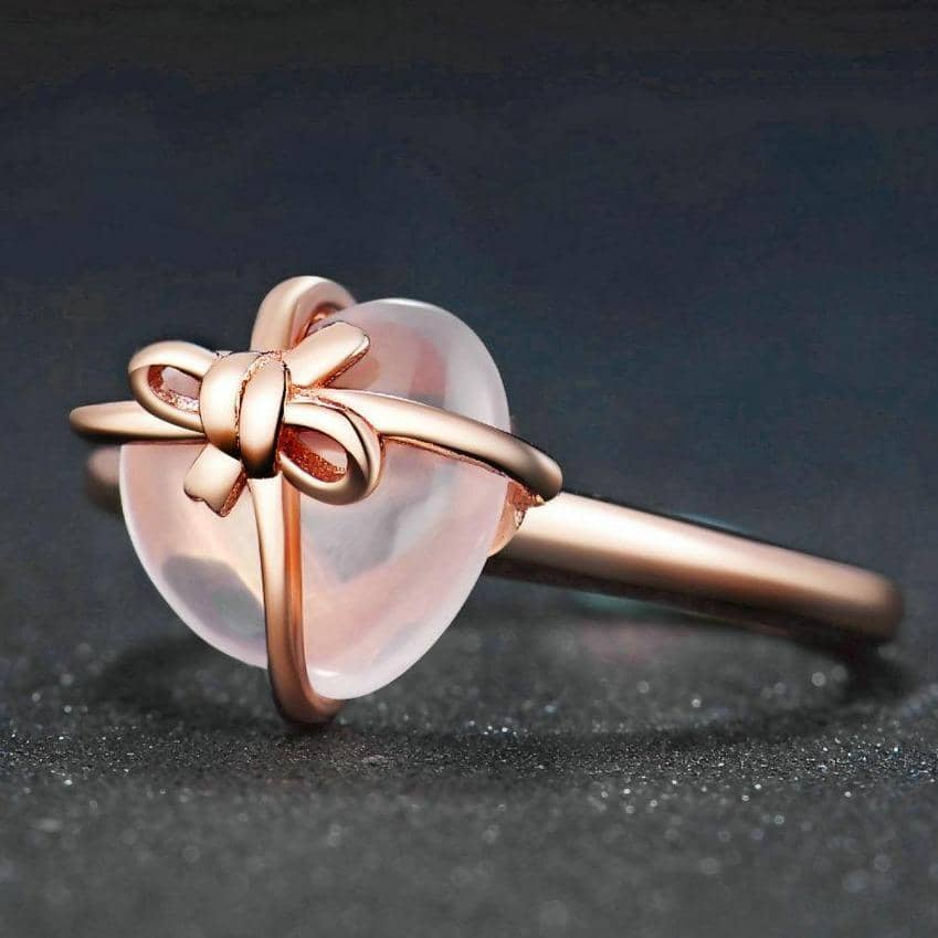 LAMOON Official Store Rings Resizable / Pink Treasures of Affection