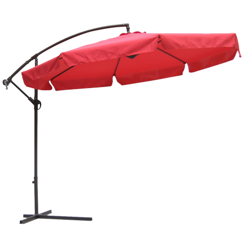 10' Market Umbrella in Autumn Red