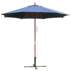 9' Outdoor Market Umbrella in Navy Blue