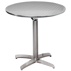 Cafe Dinette Table Silver Swirl