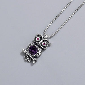 Owl sterling silver pendant