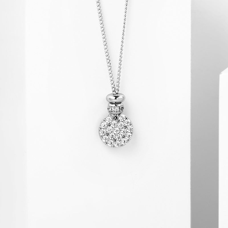 Geometric Diamond Flower Pendant