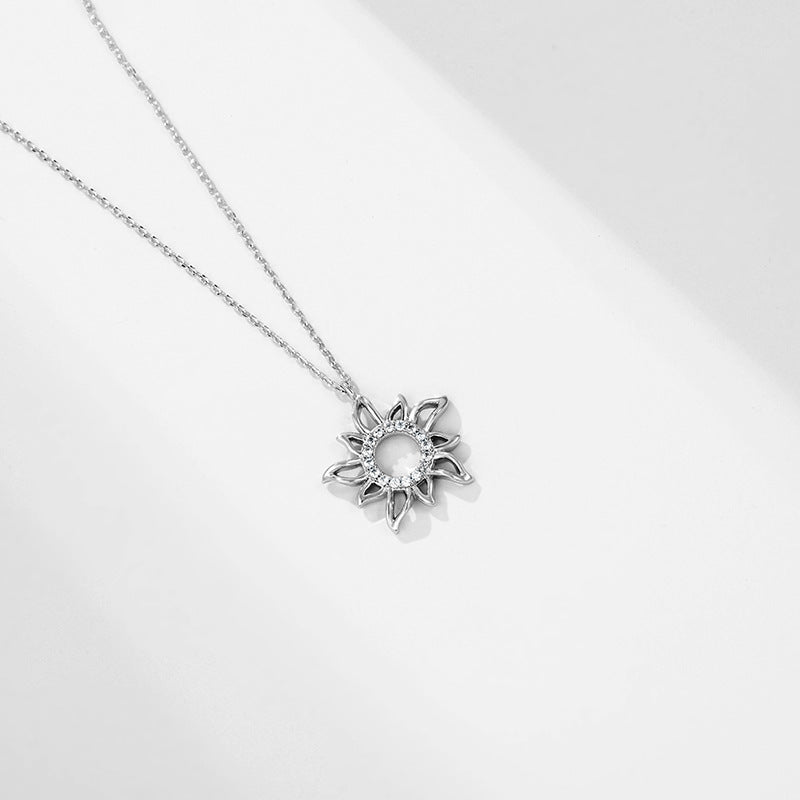Sunflower Necklace with Diamonds