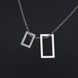 Geometric Box Pendant
