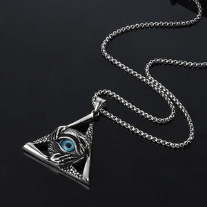 Triangle Demon Eye Pendant