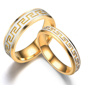 Retro pattern creative style ring