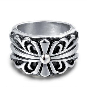 Classic Cross Floral Ring