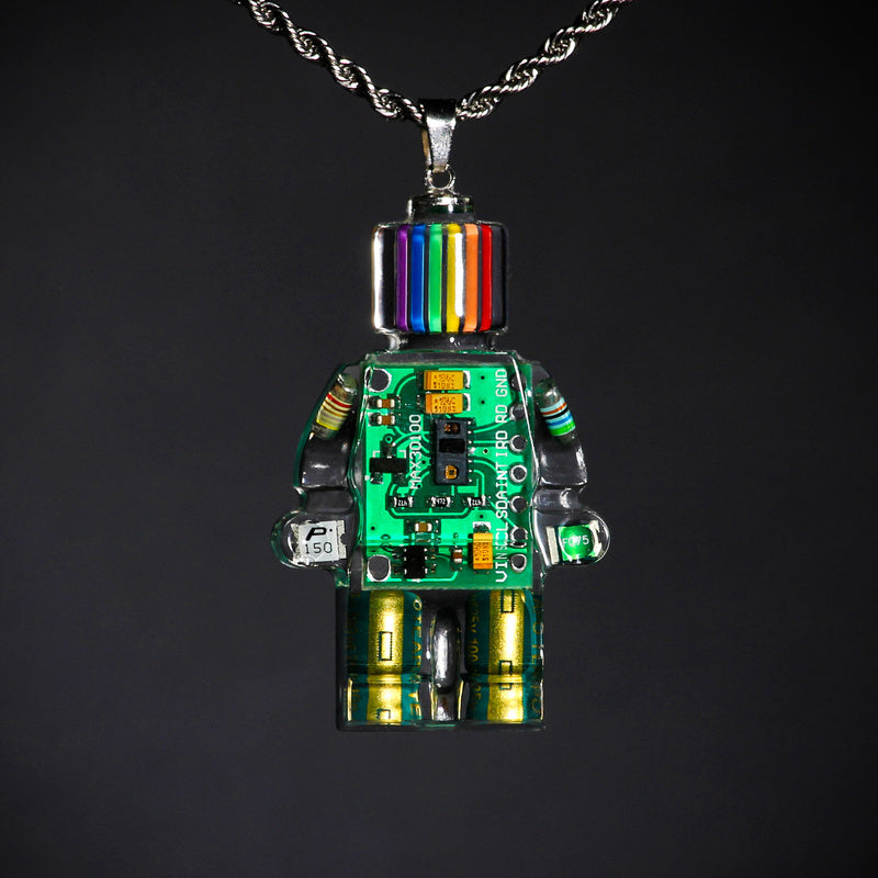 Electronic Robot Necklace