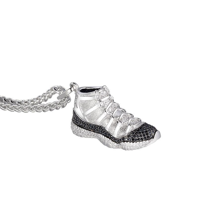 Personality trend hip-hop big devil sneakers necklace