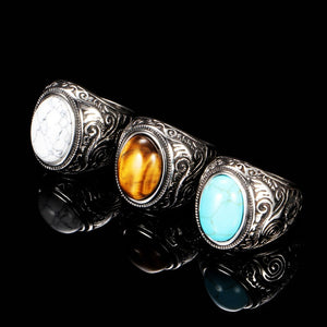 Vintage inlaid turquoise ring
