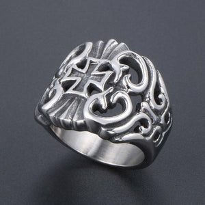Cross cutout ring