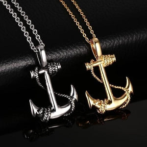 Pirate anchor necklace