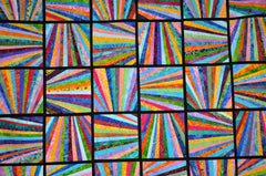 Scrappy Block quilt modern bright colors
