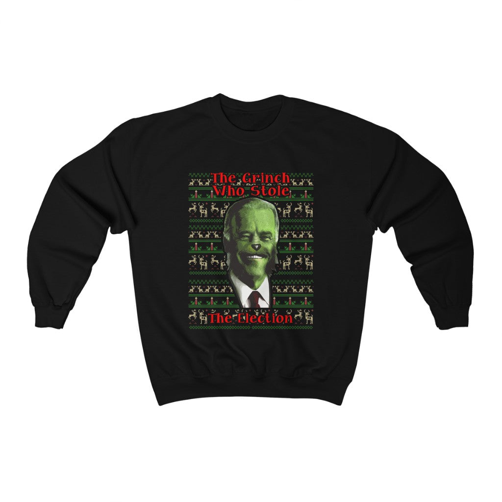 THE GRINCH WHO STOLE THE ELECTION SWEATSHIRT - patrioticforce.store