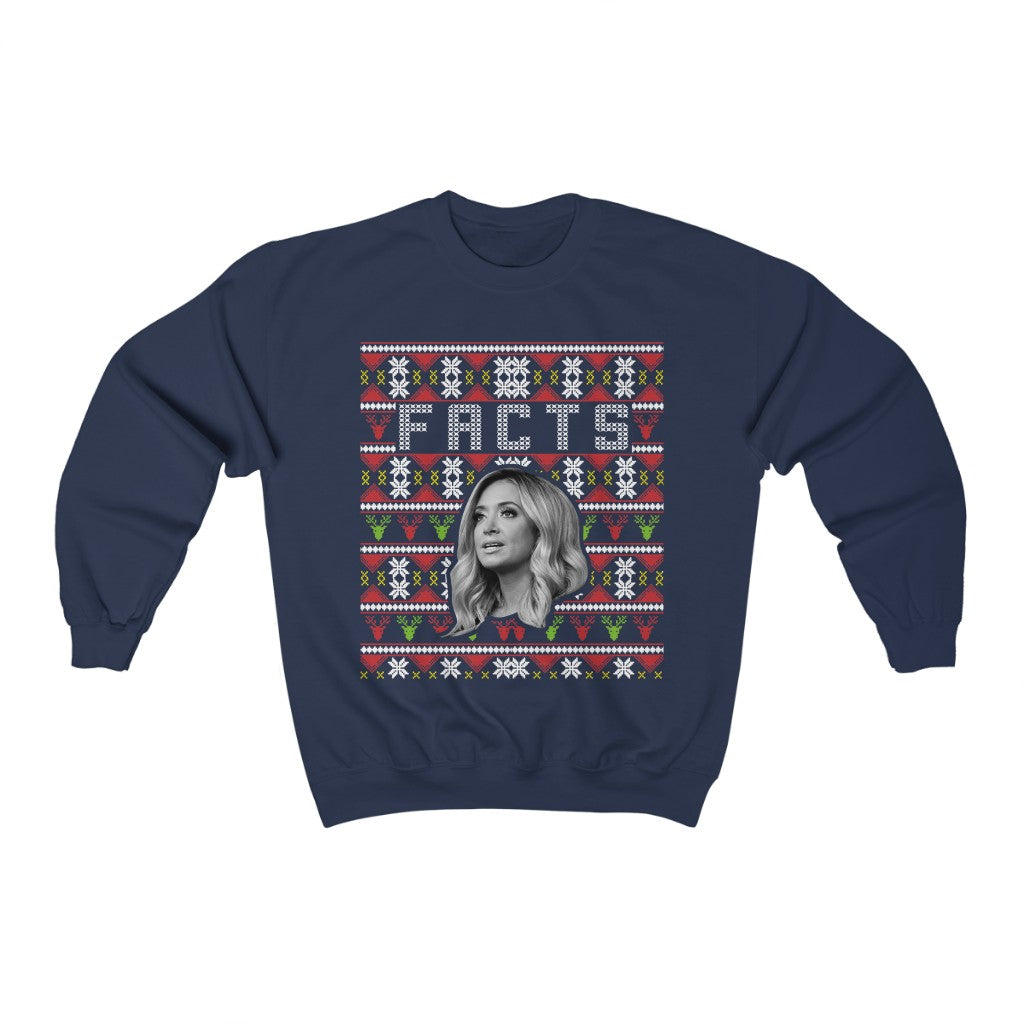 KAYLEIGH MCENANY FACTS CHRISTMAS SWEATSHIRT - patrioticforce.store
