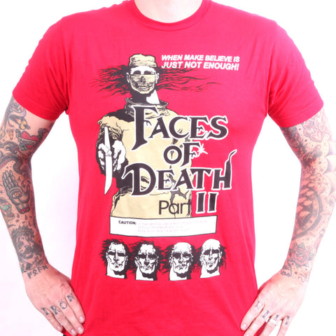Faces of Death Part 2 tees